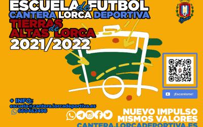 El Cantera Fútbol Lorca Deportiva pone en marcha la escuela de fútbol de las «Tierras Altas» de Lorca